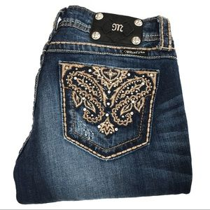 Miss Me Distressed Embellished Bootcut Jeans